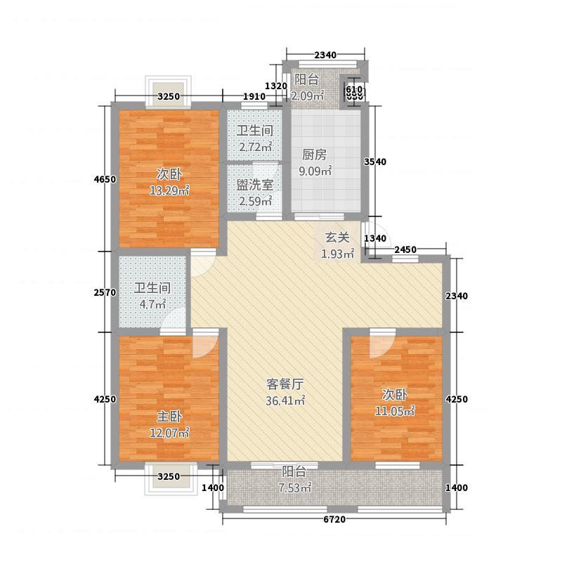 紫荆花园29#-E户型
