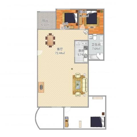 沙面新城秀菲阁5013室1厅1卫1厨193.00㎡户型图