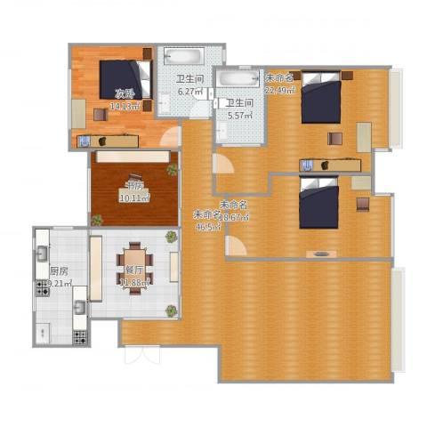 中海紫御东郡2室1厅2卫1厨193.00㎡户型图