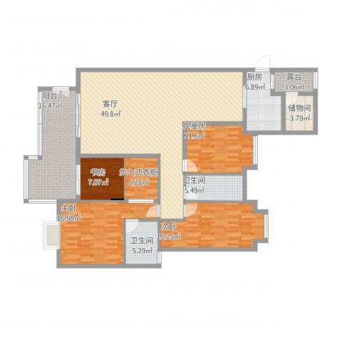 水悦城邦4室1厅2卫1厨207.00㎡户型图