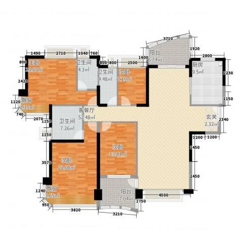 凯茵新城4室1厅3卫1厨202.00㎡户型图