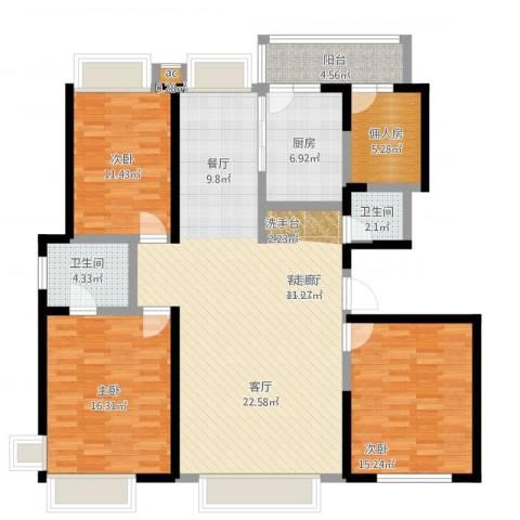 大舜天成3室1厅2卫1厨159.00㎡户型图