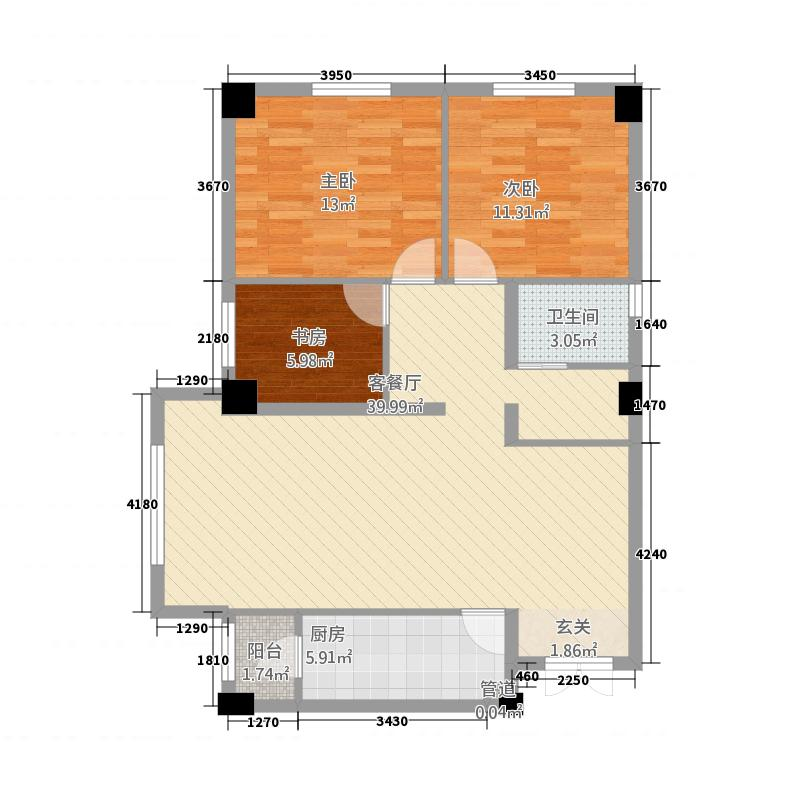 丽景公寓B1-114-3-2户型