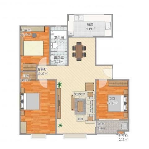 临邑盛世家园3室2厅1卫1厨139.00㎡户型图