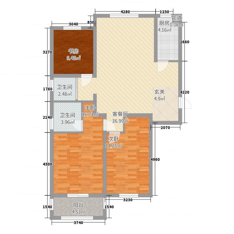 蓝湾御景129.25㎡蓝湾御景户型图1#A户型3室2厅2卫1厨户型3室2厅2卫1厨