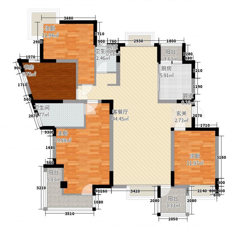 金河国际华庭175.00㎡金河国际华庭户型图户型图3室2厅2卫1厨户型3室2厅2卫1厨