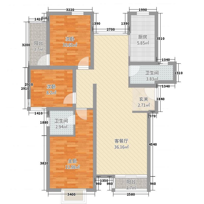 图强路2号8户型2室2厅1卫1厨
