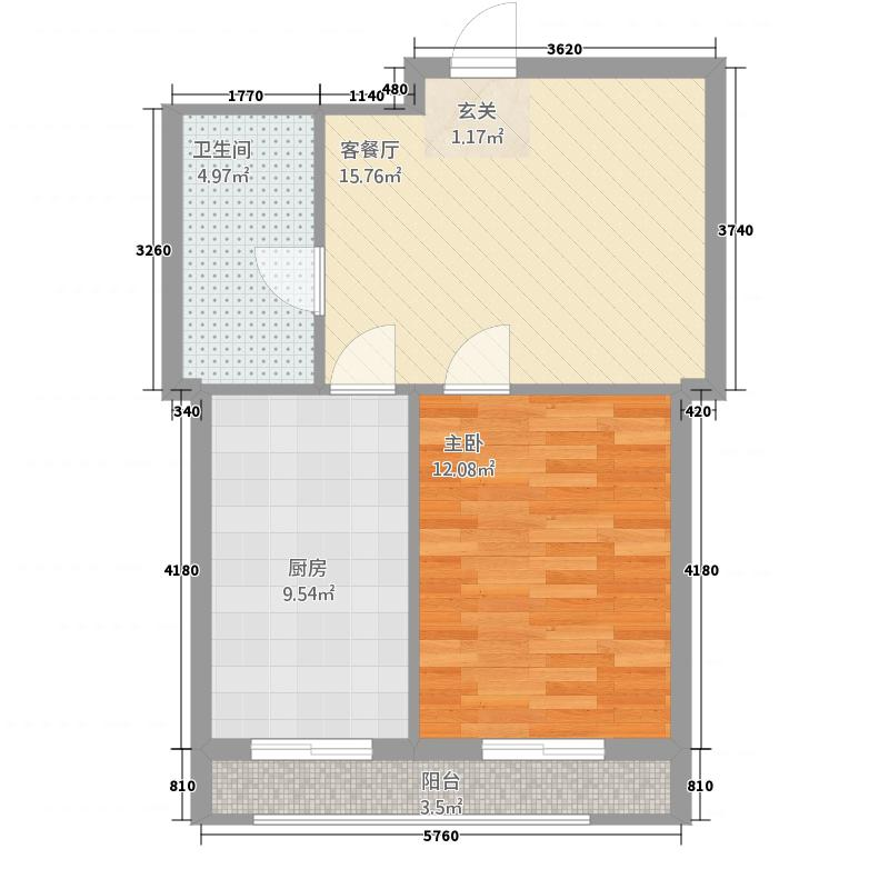亲亲美境亲亲美境户型图户型图1室1厅1卫1厨户型1室1厅1卫1厨