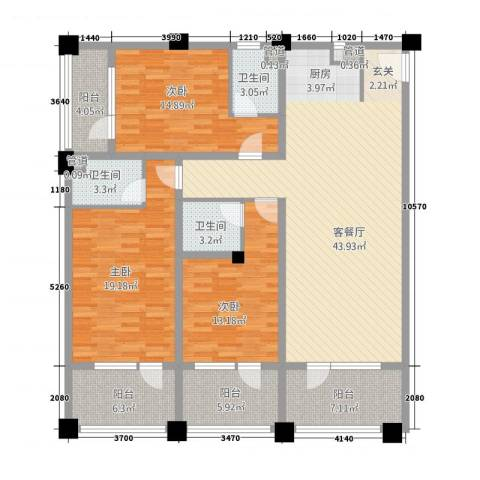 阳光半岛国际公寓二期3室1厅3卫0厨179.00㎡户型图