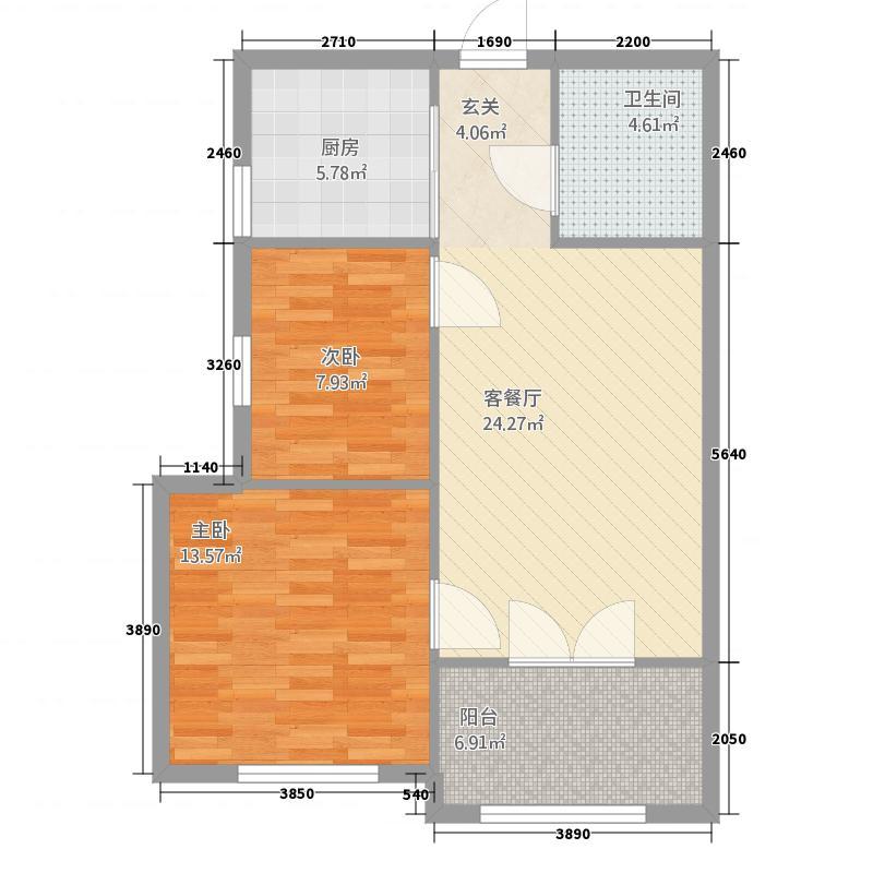 北岸七英里63.08㎡北岸七英里户型图F3户型10-22层2室1厅1卫1厨户型2室1厅1卫1厨