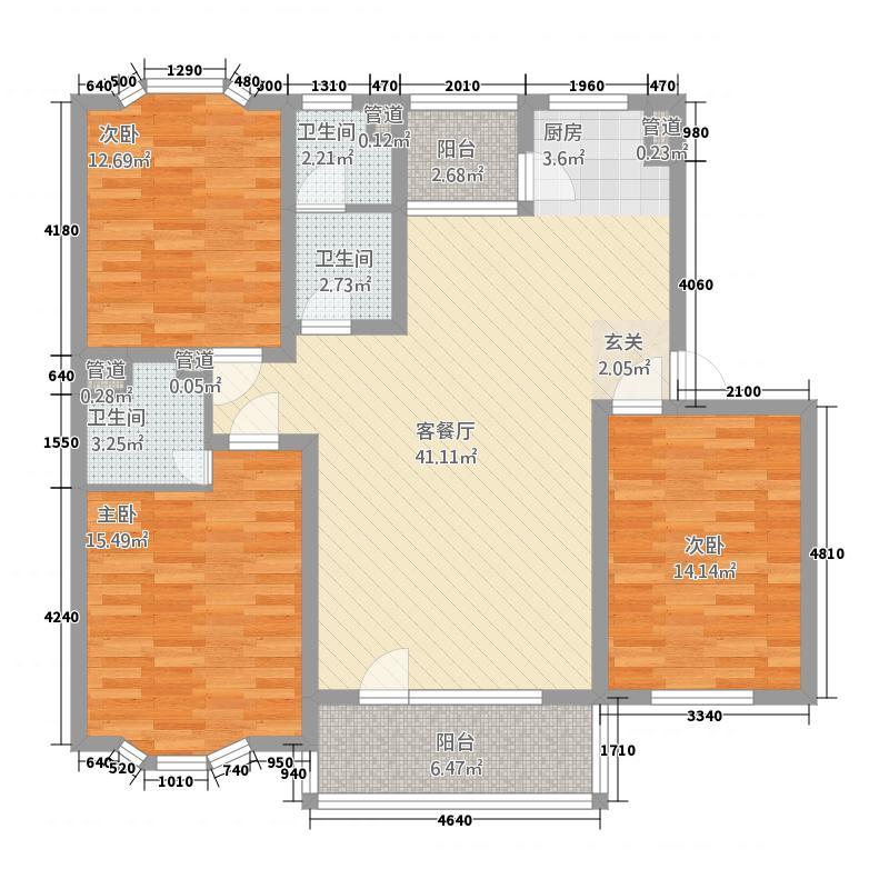 威宁花苑146.52㎡威宁花苑户型图3室2厅1卫1厨户型10室