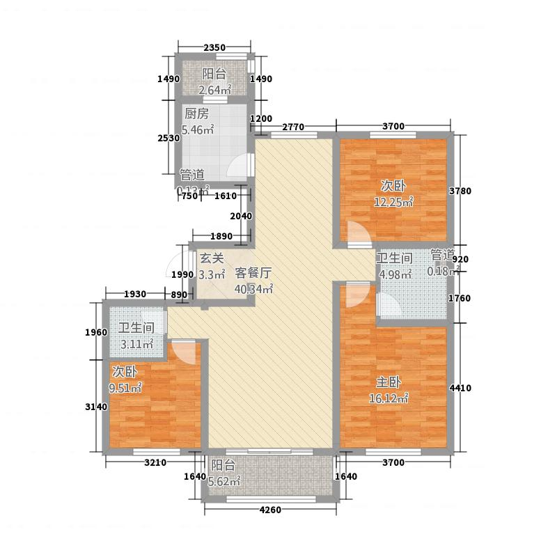 鹿塬温泉小区户型3室