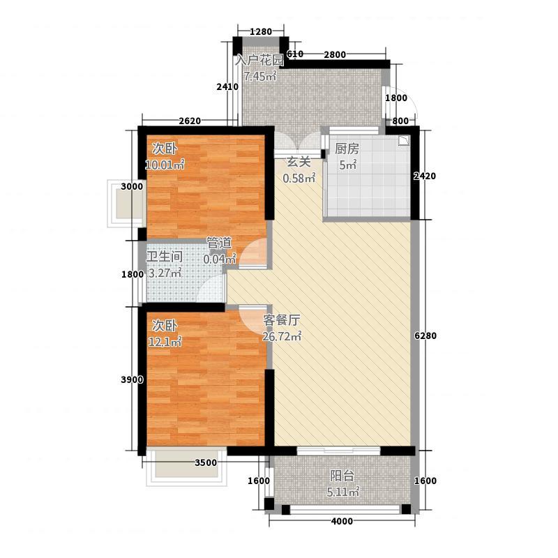 怡鹭大厦2居户型