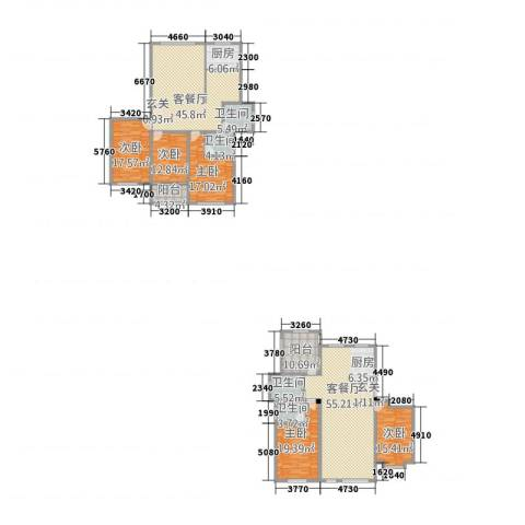 世昌华庭5室2厅4卫1厨313.00㎡户型图