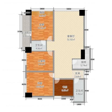 金烨融府4室1厅2卫1厨158.00㎡户型图