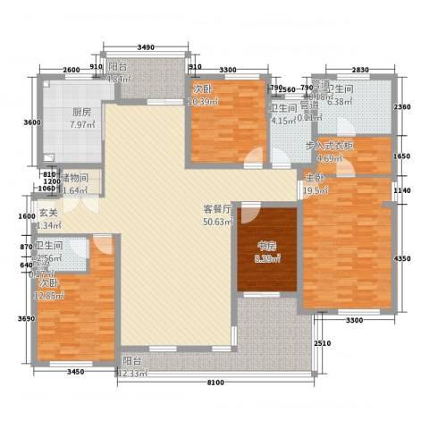 星屿仁恒4室1厅3卫1厨210.00㎡户型图