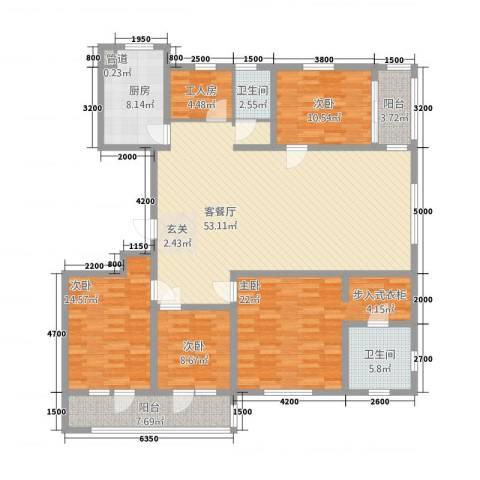 朗诗.绿色街区4室1厅2卫1厨201.00㎡户型图