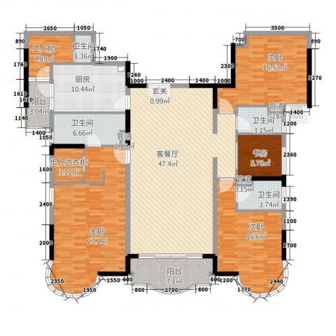 城市快线4室1厅4卫1厨222.00㎡户型图