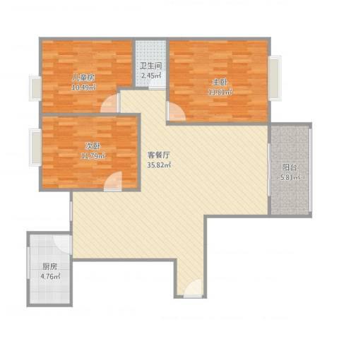海韵嘉园16#9073室1厅1卫1厨114.00㎡户型图