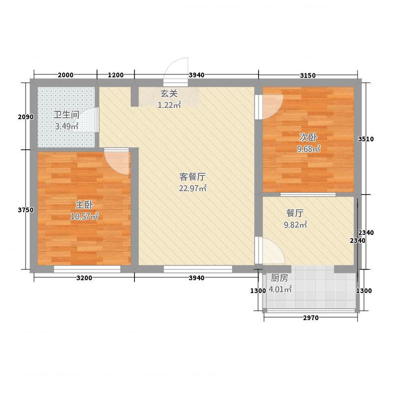 景观花园80.00㎡景观花园户型图户型图2室2厅1卫1厨户型2室2厅1卫1厨