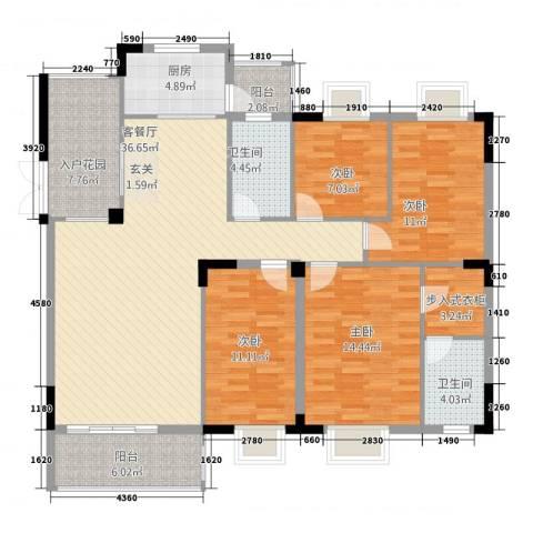 金椅豪园4室1厅2卫1厨158.00㎡户型图