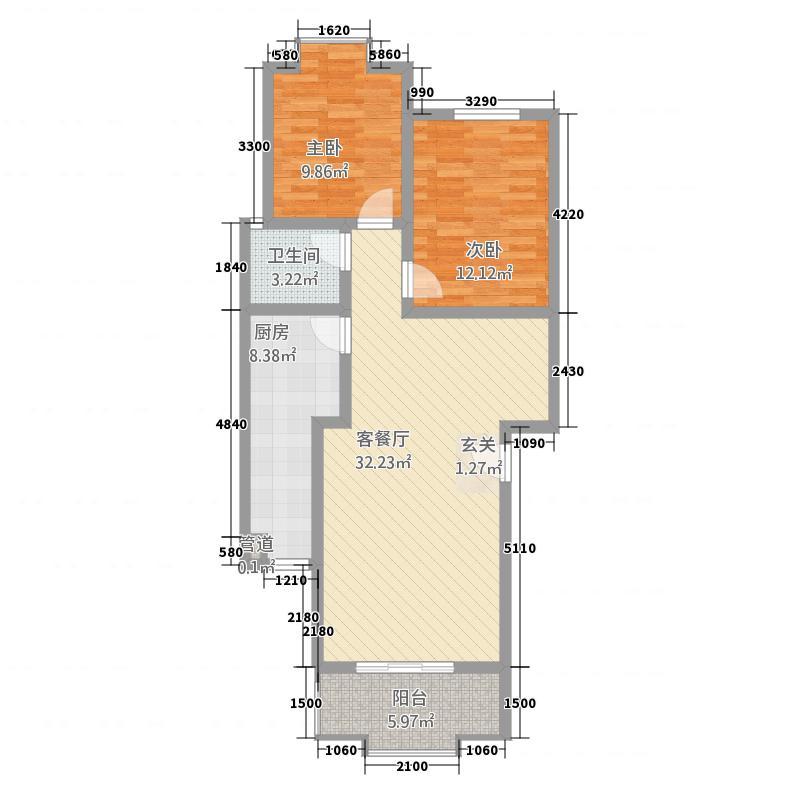 天馨家园88.50㎡天馨家园户型图2室1厅1卫1厨户型10室