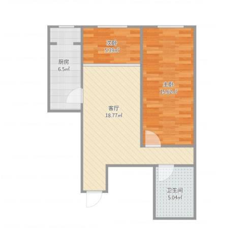 白盆窑南区一居室赵姐大包2室1厅1卫1厨70.00㎡户型图