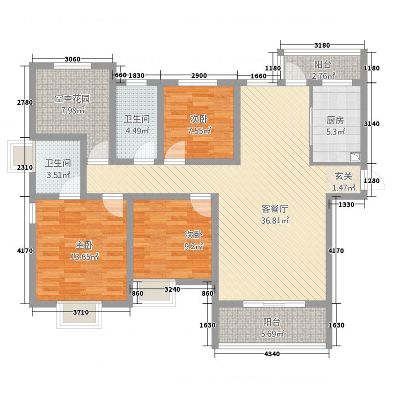 海雨家园户型3室