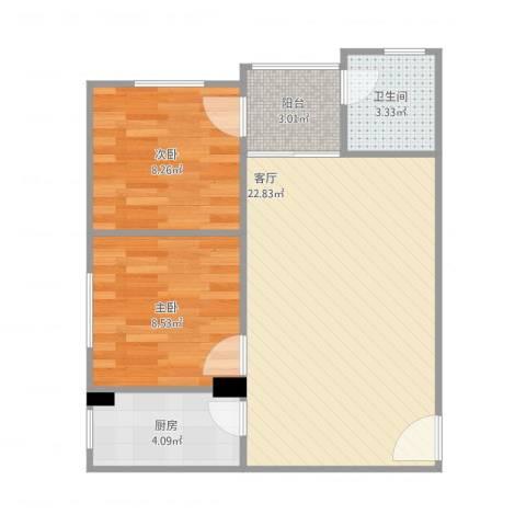 金城小区9A32室1厅1卫1厨68.00㎡户型图