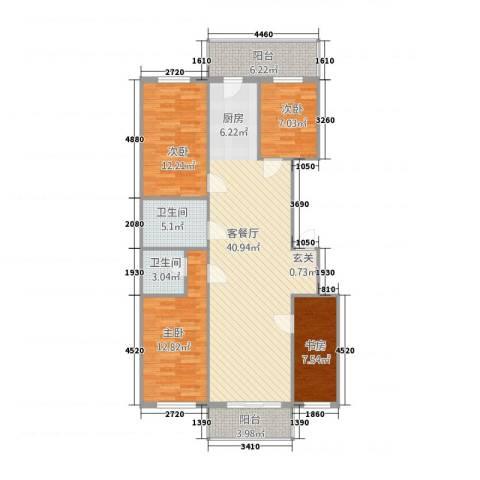御景国际4室1厅2卫0厨108.00㎡户型图