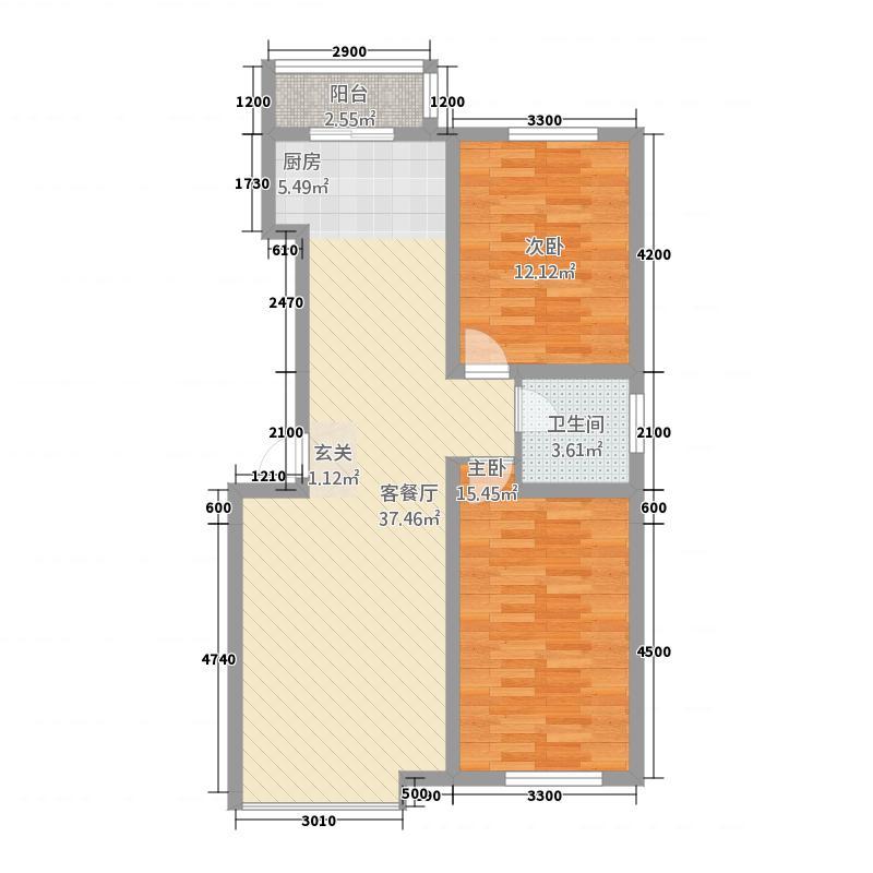 凤凰新村114.00㎡户型2室