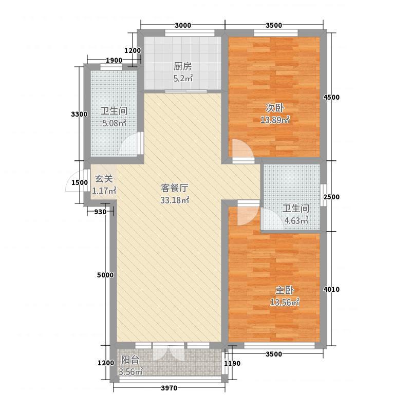 财神里86.00㎡小区户型3室