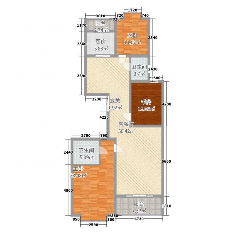 汉唐官邸172.00㎡-172-3221户型3室2厅2卫1厨