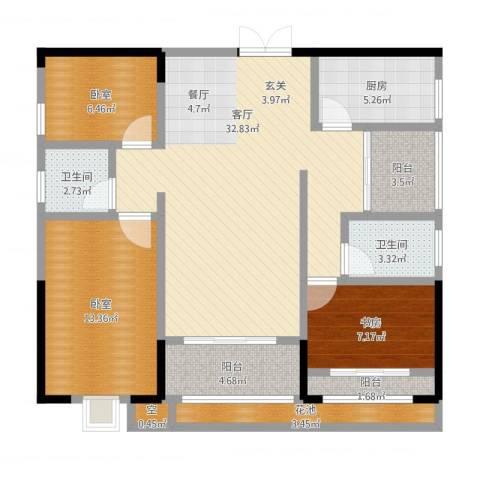 ECO城1室1厅2卫1厨124.00㎡户型图
