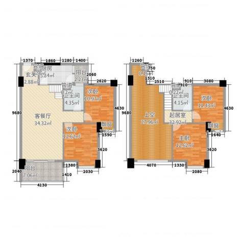 怡丰翠云轩4室1厅2卫1厨158.00㎡户型图