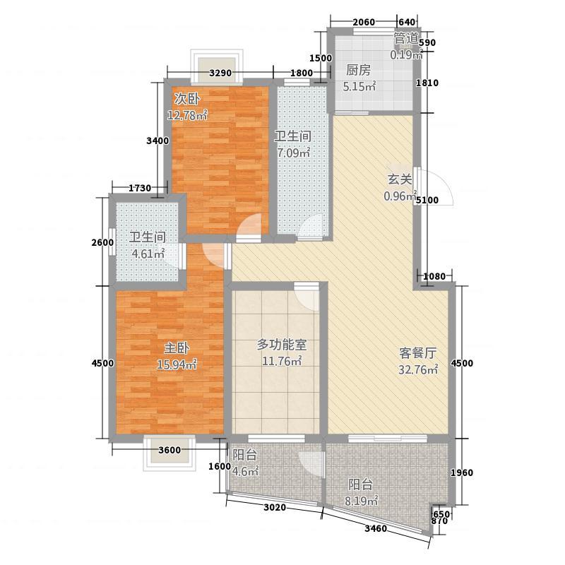 中南麒麟锦城户型3室