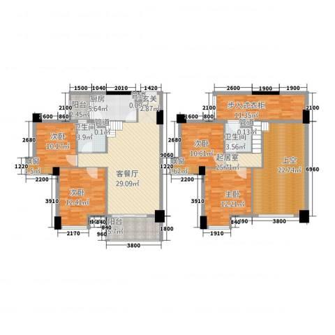 怡丰翠云轩4室1厅2卫1厨133.14㎡户型图