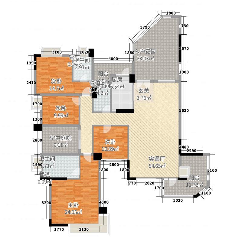 海畔嘉苑23.88㎡8栋3-14层A户型3室2厅3卫1厨