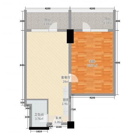 世纪之帆1室1厅1卫0厨96.00㎡户型图