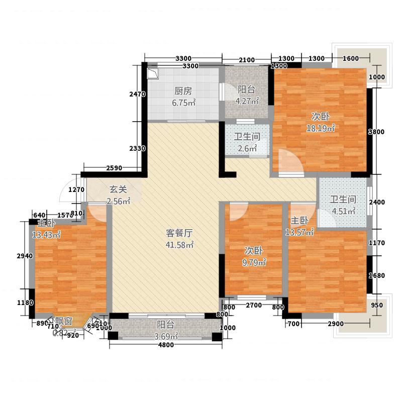 泓鑫・桃林A3户型3室2厅2卫