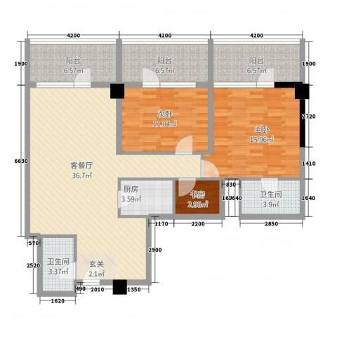 世纪之帆3室1厅2卫1厨139.00㎡户型图