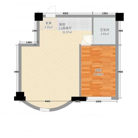 东大商巢1室1厅1卫0厨76.00㎡户型图
