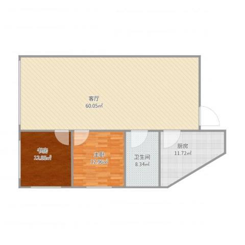 锦绣大厦2室1厅1卫1厨111.33㎡户型图