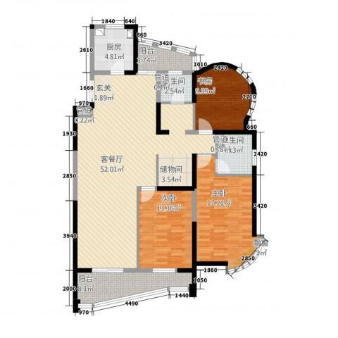 创智赢家3室1厅2卫1厨166.00㎡户型图