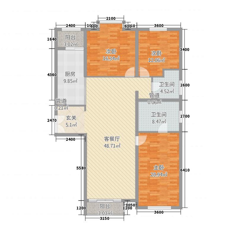 巨和美术馆8.00㎡巨和美术户型3室