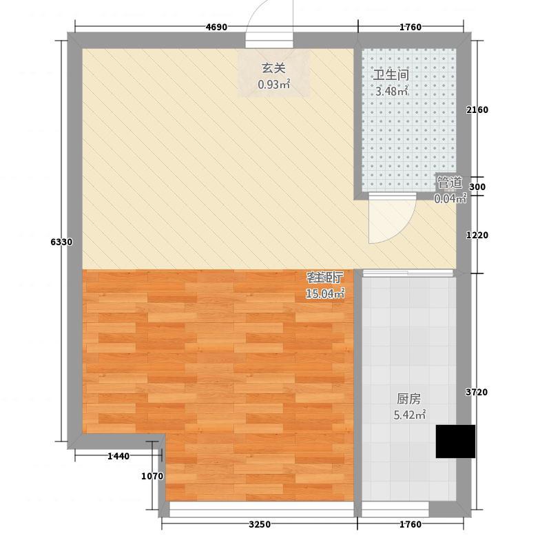 博隆金水湾家园44.64㎡户型1室1厅1卫