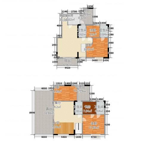 花园街5室2厅4卫1厨205.28㎡户型图