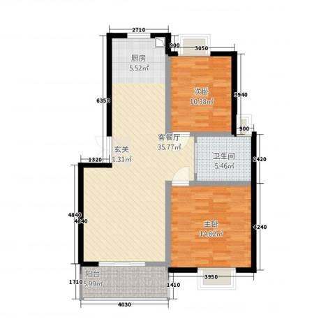 锦书清华里2室1厅1卫0厨102.00㎡户型图
