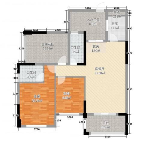 东信华府2室1厅2卫1厨4218.00㎡户型图