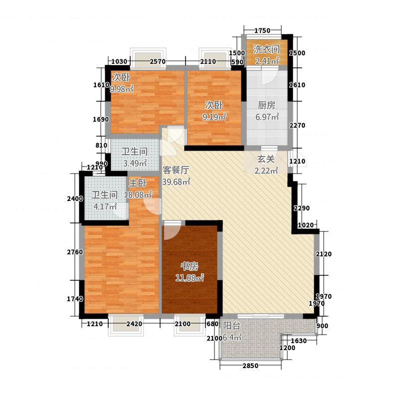 华都B区3户型4室2厅2卫1厨